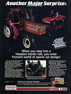 1983 Hesston Full Line Tractor /& Forage Harvester Print Ad