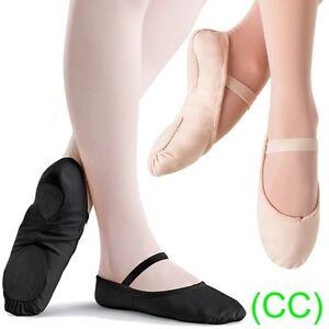 Pink-amp-Black-CANVAS-Ballet-Dance-Shoes-split-suede-sole-Children-039-s-amp-Adults-CC