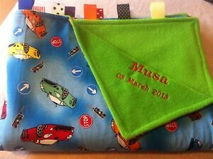 XL PERSONALISED FARM THEMED COT//PRAM TAGGY BLANKET//GIFT//GIRL OR BOY