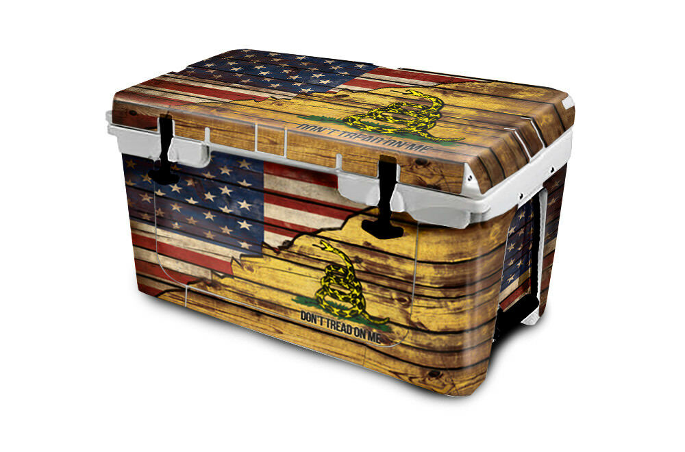 USATuff Cooler Wrap 'Fits New Mold' RTIC 65QT FULL US Gadsden Split Dont Tread