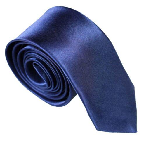 Krawatte schmal dunkelblau Herren Hochzeit Business Schlips Anzug festlich