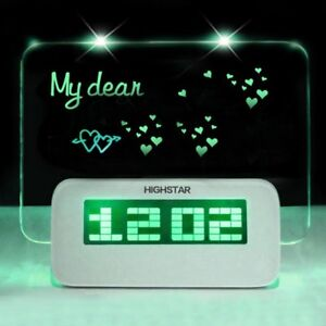 Image Is Loading Highstar Fluorescent Green Led Luminous Memo Message Board