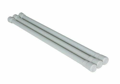 """3pk Camco 44053 16/"""" to 28/"""" White Cupboard//Refrigerator Bars"""
