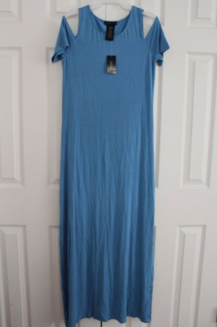 Design History Women/'s Cold Shoulder Maxi Dress