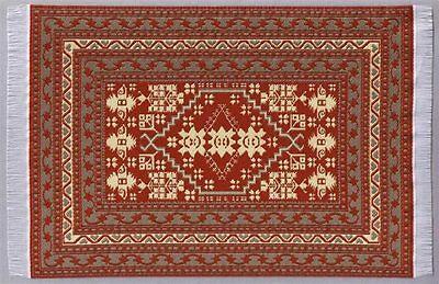 Puppenstuben Teppich Rotbraun/beige 23 X15 Cm Puppenhaus Möbel Miniatur 1:12