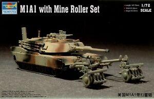 Trumpeter 1/72 M1a1 Avec Mine Roller Set #07278