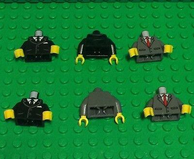 Gray Dark Bluish x 1 Grandmaster 76088 Figure Hair NEW LEGO Combed Male