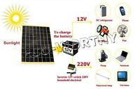 10W Solar panel -10 Watt 12V Garden Fountain pond Battery Charger W/ Diode+cable