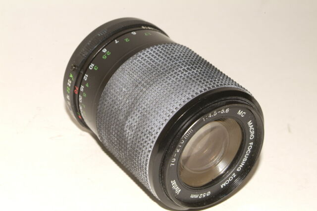 Vivitar f4.5-5.6 70-210mm PKA fit lens