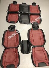 2015 2020 Ford F 150 Xlt Super Crew Custom Leather Seats Black Amp Medium Red Fits Ford F 150
