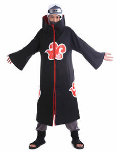 Image is loading Naruto-Shippuden-Cosplay-Costume-Hidden-Waterfall-Akatsuki -Member-