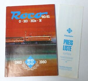 Sinnvoll Roco 1960 1980 Katalog '80/81, 83 S., Mit Preisliste