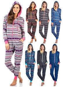 bcd8e02f0 Ashford   Brooks Women s Sweater Fleece Zip Up Hooded Jumpsuit One ...