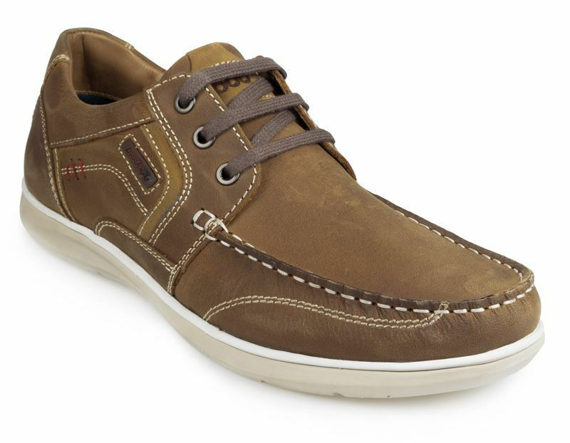 Pod Mens Casual lace up shoe - Hawk 2 Brown in size UK6 to UK15