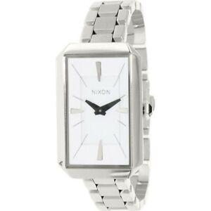 Nixon-A284100-Women-039-s-Silver-Steel-Bracelet-With-White-Analog-Dial-Genuine-Watch