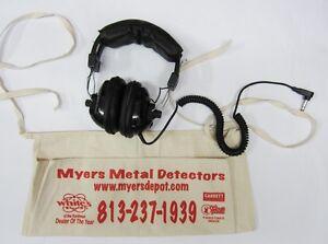 Treasure Wise Metal Detecting Headphones New+Free Treasure Apron & Priority Ship