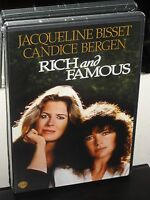 Rich and Famous (DVD) Jacqueline Bisset, Candice Bergen, George Cukor, NEW!
