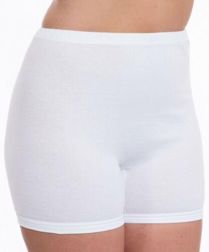 ladies 3 pack full soft cotton briefs pants knickers plain white sizes 14-28