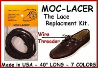 Medium Brown/burgundy Mock-lacer Leather Lace Replacement Boat Or Deck Shoes
