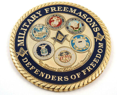 "Military Freemasons Defenders Freedom Mason 3/"" auto emblem Metal car decal MAS37"