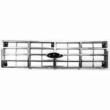 NEW 80-86 FITS FORD F-SERIES/ BRONCO REPLACEMENT GRILLE CHROME FRONT FO1200118