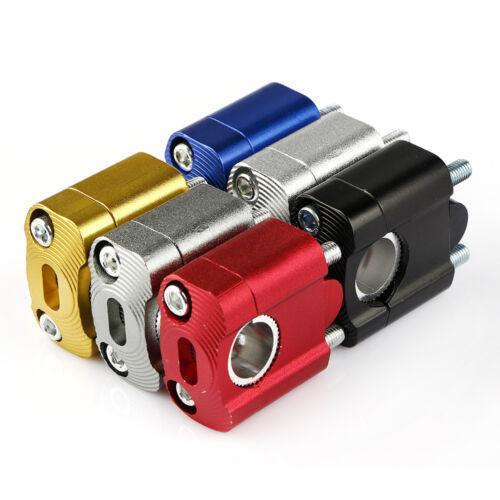 Universal 7//8/'/' Handlebar Handle Fat Bar Mount And Bolts Clamps Riser Motorcycle
