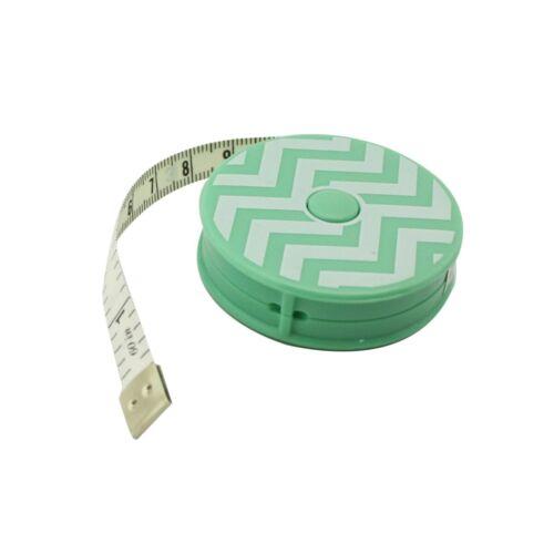 """60/"""" Mint Chevron Retractable Tape Measure 150cm"""
