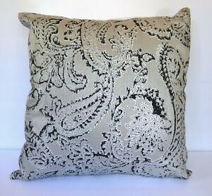 Ann-Gish-Arabesque-Paisley-Metallic-Pillow-Grey-Charcoal