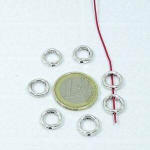c493c1cafa87 La imagen se está cargando 60-Abalorios-Para-Pulsera-Collar-11mm-T71X-Plata-