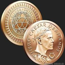 2017 Silver Shield Nero Caesar Obamanus Obama 1 oz Copper Bu Round super rare