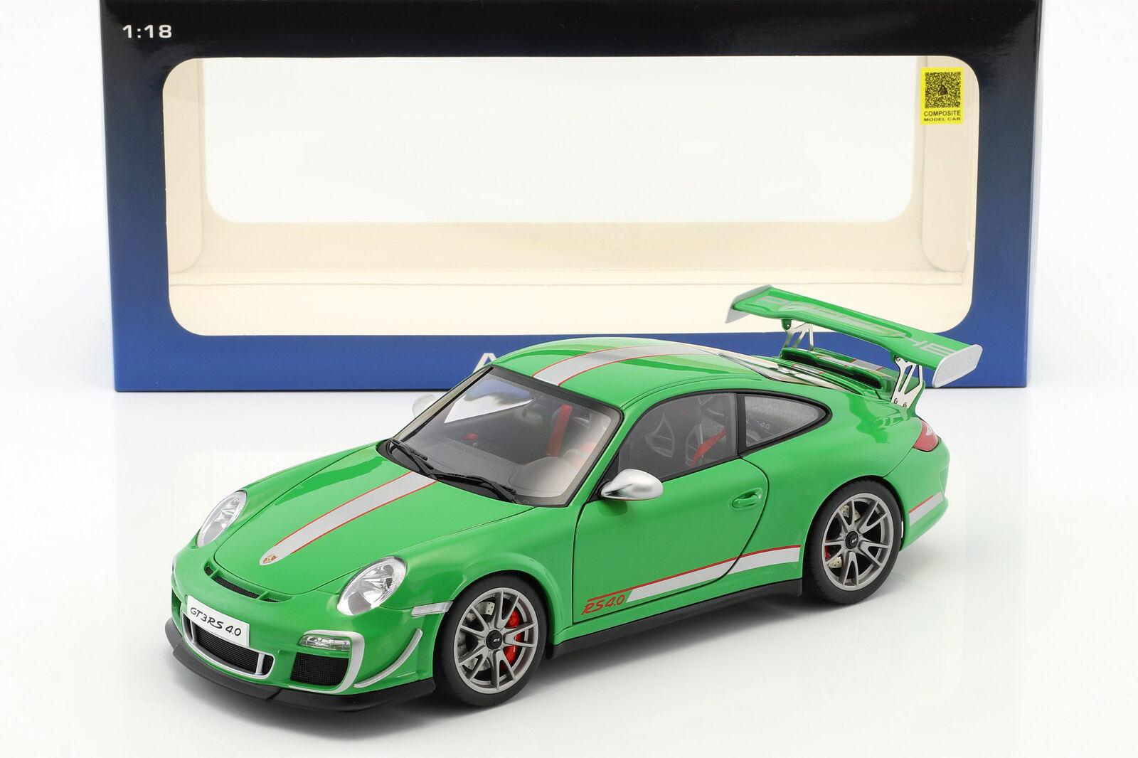 Porsche 911 (997) GT3 Rs 4.0 Anno 2011 verde 1 18 autoart