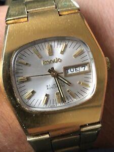 Vintage Imado 21J Automatic Watch Mechanical Manual Wind Wristwatch Working Old