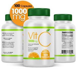 Vitamin-C-1000mg-100-CAPS-Support-Immune-System-1000-mg-capsules-EXP-03-23