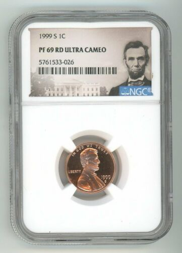 1999 S LINCOLN CENT 1C NGC PF 69 RD ULTRA CAMEO 5761533-026
