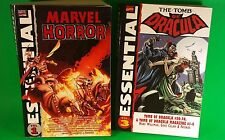 Essential Marvel Horror Vol. 1 & Tomb of Dracula Vol. 3, Lot of 2 Marvel TPB