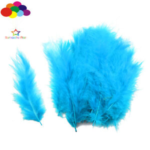 100-Pcs-Lake-Blue-macarons-couleurs-Turquie-plumes-Fluff-Dream-Catcher-materiel