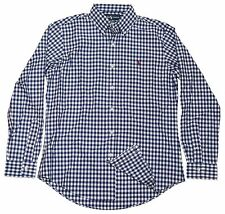 Polo Ralph Lauren Mens Custom Fit Dress Casual Shirt Gingham Navy Blue Red XL