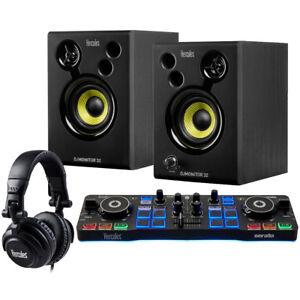 hercules dj starter kit 2 deck usb dj controller set incl headphones speakers 3362934745806 ebay. Black Bedroom Furniture Sets. Home Design Ideas