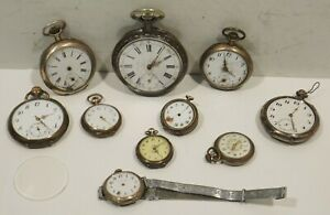 Konv-3-10-Silver-Pocket-Watches-Cylindre-Remontoir-Rubis-Watchmaker-Discount