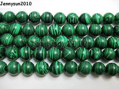 Natural Malachite Gemstone Round Beads 15.5'' Strand 4mm 6mm 8mm 10mm 12mm