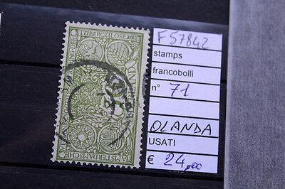 Industrious Francobolli Stamps N°71 Olanda Usati Stamps Netherlands & Colonies F57842