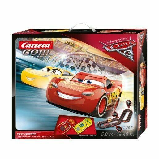 Carrera Go Cars 3 Fast Friends Slot Car Racing Set 20062419 Lightning Mcqueen For Sale Online Ebay