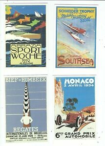 A-DALKEITH-SET-OF-6-POSTCARDS-RACING