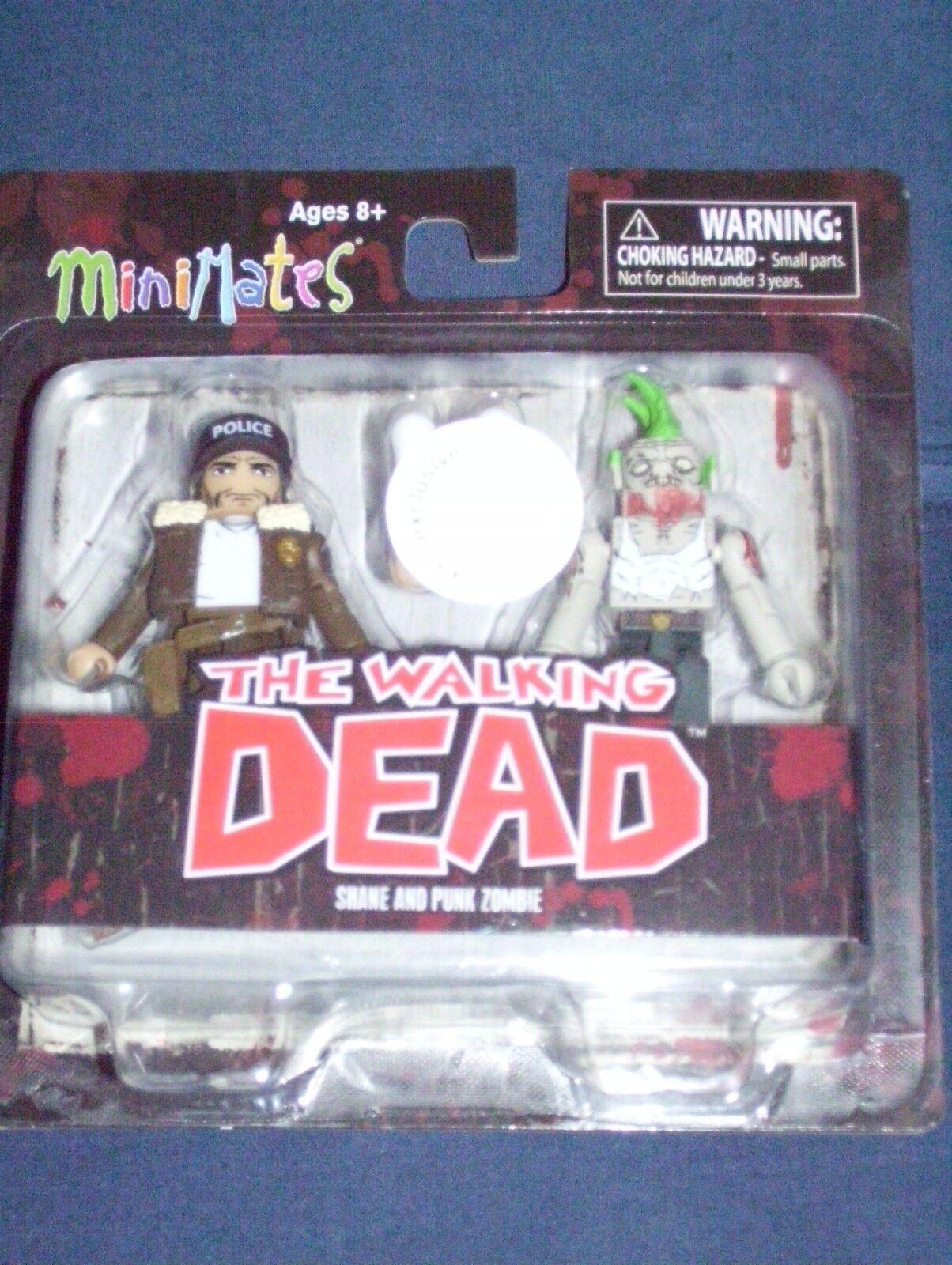 Minimates shane & punk - zombie - serie walking dead nib toys r us 1 ausschließliche
