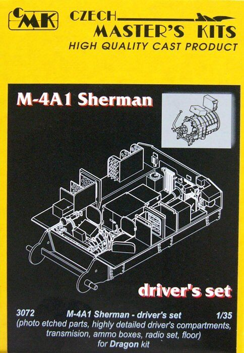 Czech Master 1 35 M4A1 Sherman Early Late Driver's Set for Dragon kit