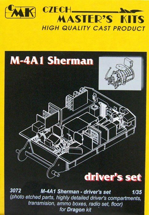 Czech Master 1 35 M4a1 Sherman Presto   Late Driver's Set per Drago Kit