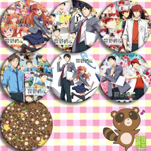 7pcs Sets Gekkan Shoujo Nozaki-kun Badge Pin Button Bags Garniture Brooch #K37