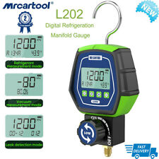 Digital Refrigeration Manifold Gauge Meter Hvac Vacuum Pressure Temp Tester L202