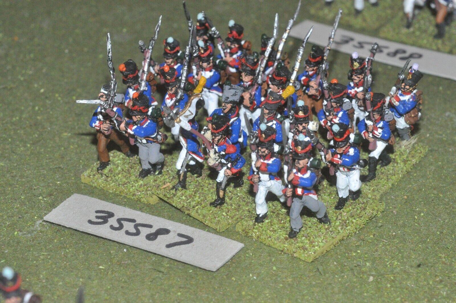 25mm Regimiento napoleónicas francés - 24 figuras-INF (35587)