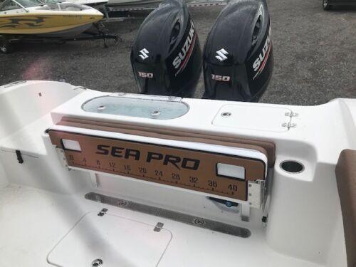 "Sea Pro 40/"" Fishing Ruler 259 Bolster Bench Seat Pad Brushed Titanium//Black"